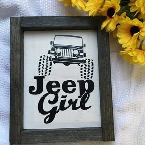 Hand Crafted | Jeep Girl Wall Sign / Home Decor
